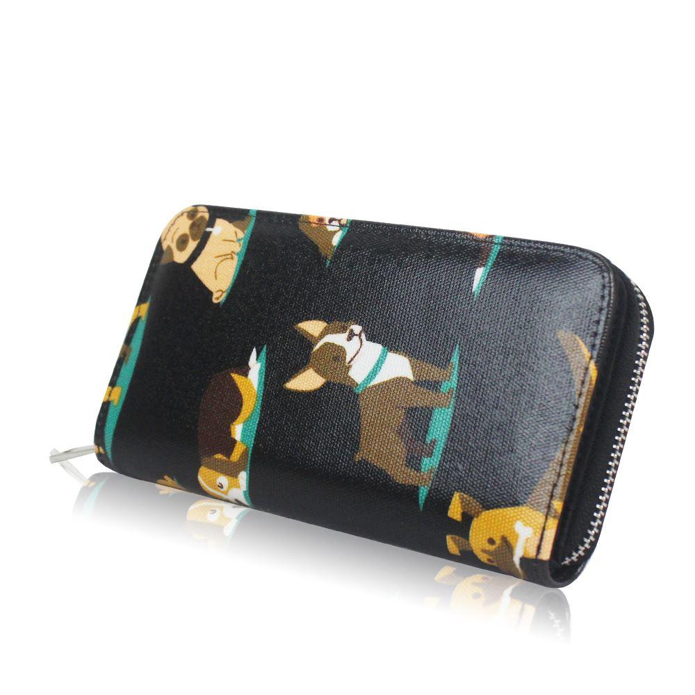 New-Womens-Long-Purse-Girls-Dog-Print-Wallet-Ladies-Oilcloth-Coin-Purse thumbnail 6