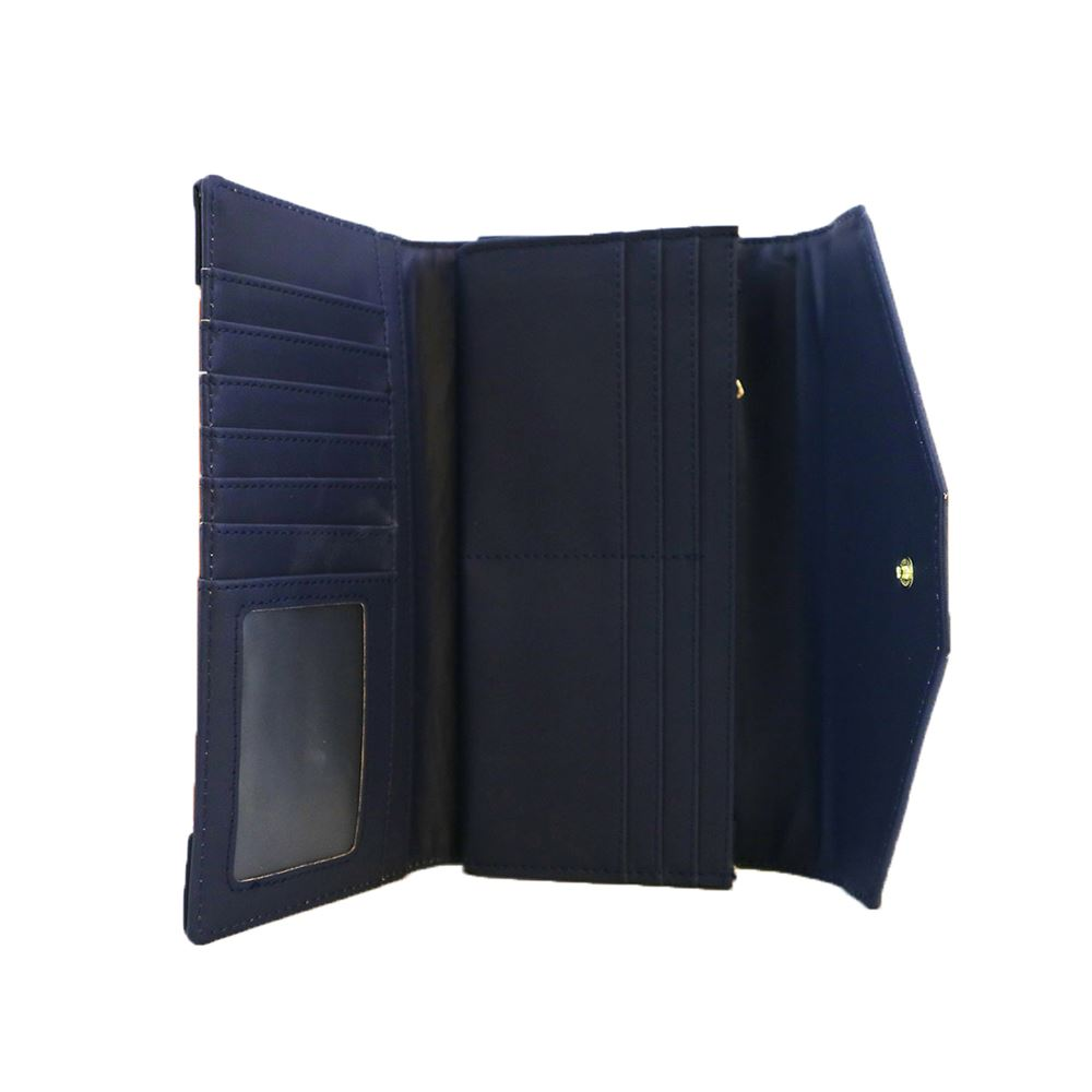 New-Edie-PU-Purse-Envelop-Colour-Block-Flap-Over-Basic-Wallet-Casual-Card-Slot thumbnail 6
