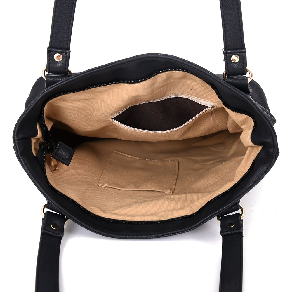 Women-039-s-Large-Designer-Style-PU-Leather-Shopper-Ladies-HandBag thumbnail 4