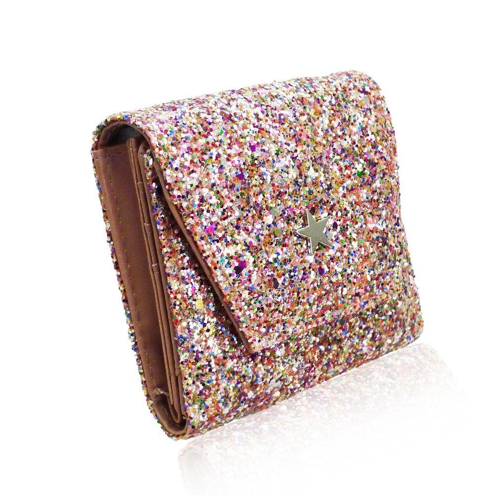 New-Women-039-s-Glitter-Purse-Girls-Designer-Style-Wallet-Card-Holder-Coin-Purse thumbnail 6