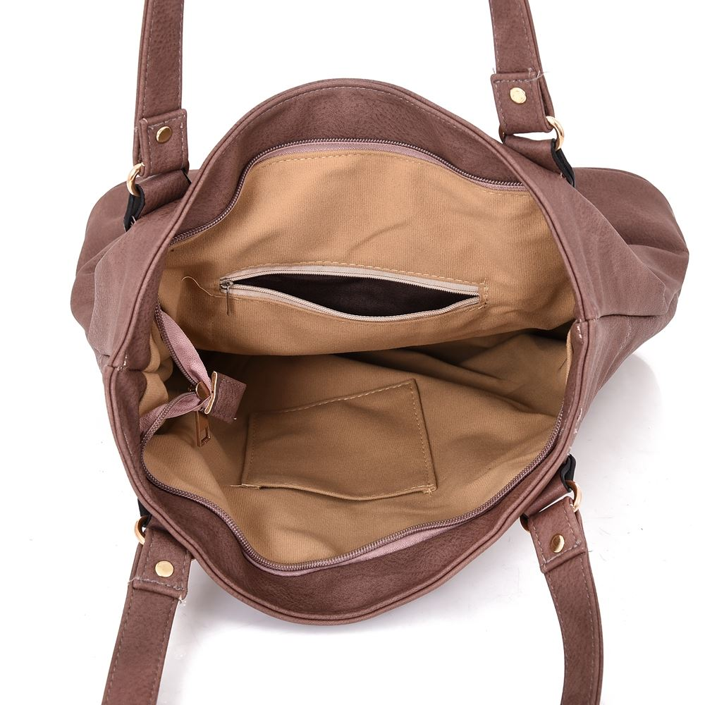 Women-039-s-Large-Designer-Style-PU-Leather-Shopper-Ladies-HandBag thumbnail 10