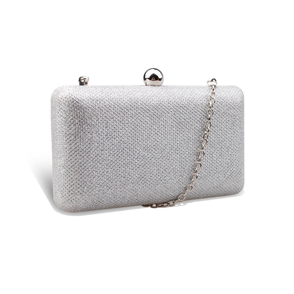 Women-039-s-Fashionable-Glitter-Metallic-Clutch-Bag