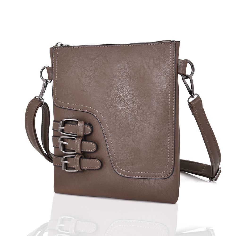 e42c608c00f Womens Designer Style Cross Body Bag Ladies Handbag PU Leather ...