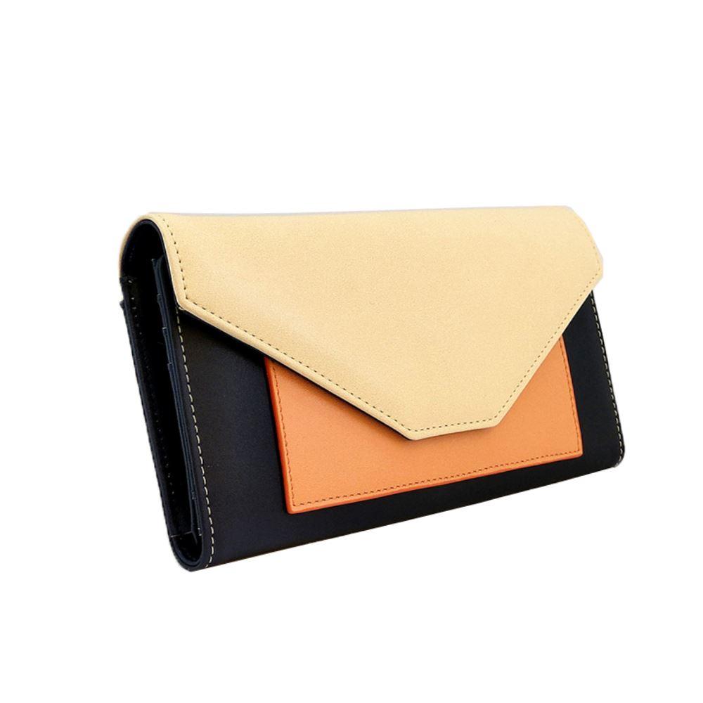 New-Edie-PU-Purse-Envelop-Colour-Block-Flap-Over-Basic-Wallet-Casual-Card-Slot thumbnail 4