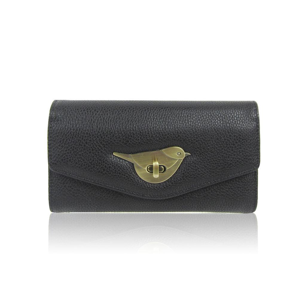 Womens-Designer-Style-Purse-Clasp-Close-Wallet-Girls-PU-Coin-Holder-Bird-Design thumbnail 6