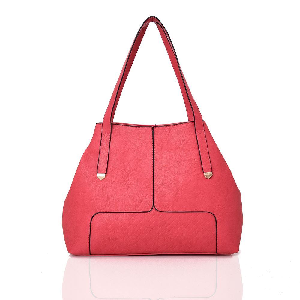 Womens-Basic-Simple-Tote-Bag-With-Seam-Detail-Ladies-Shoulder-Handbag-Medium