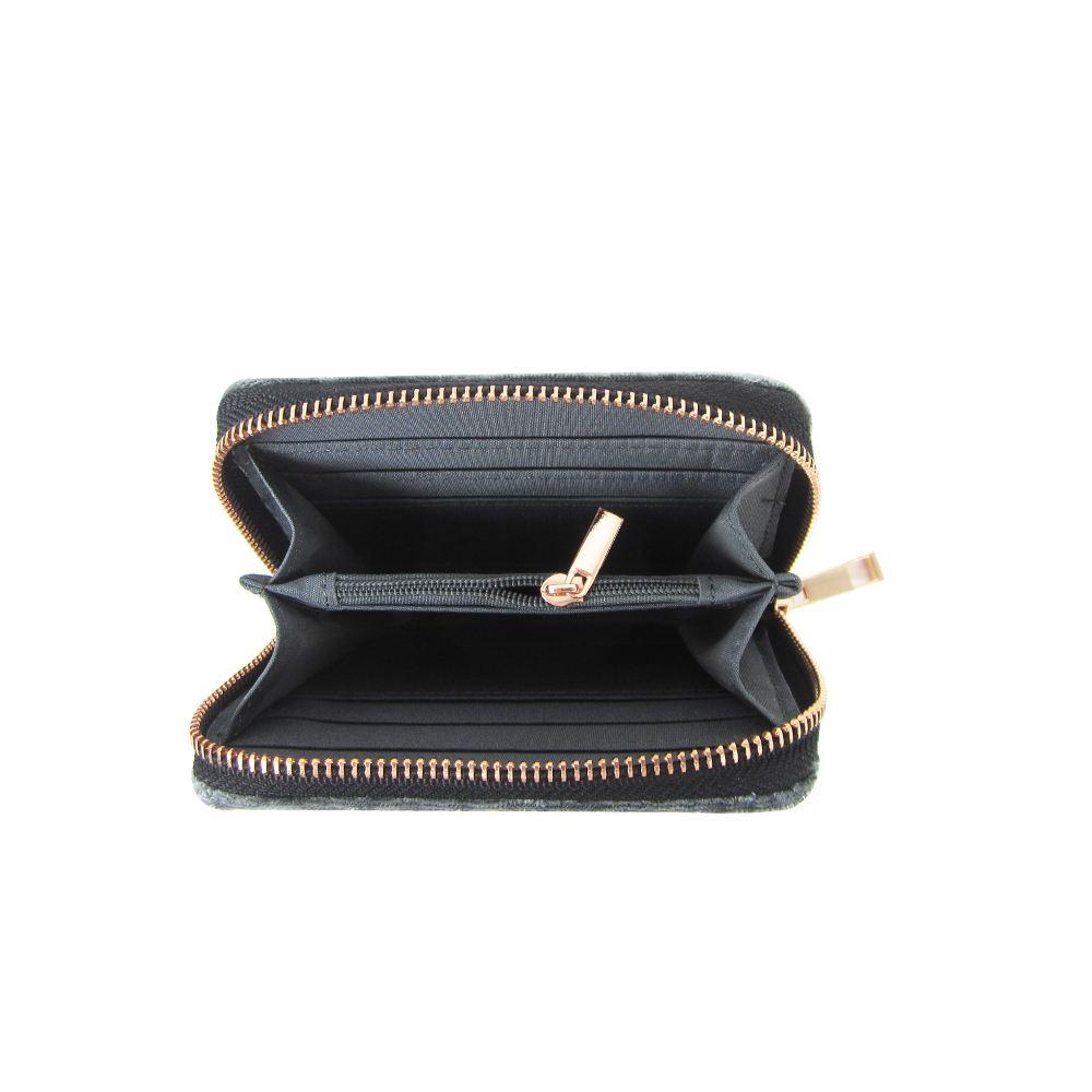 Women-039-s-Designer-Style-Velvet-Small-Zip-Purse-Zip-Close-Wallet-Girls-Purse thumbnail 11