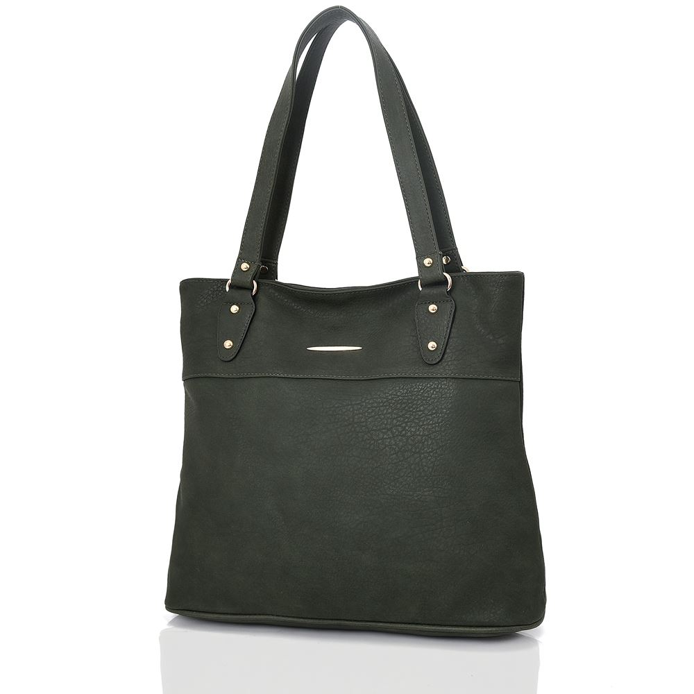 Women-039-s-Large-Designer-Style-PU-Leather-Shopper-Ladies-HandBag thumbnail 6