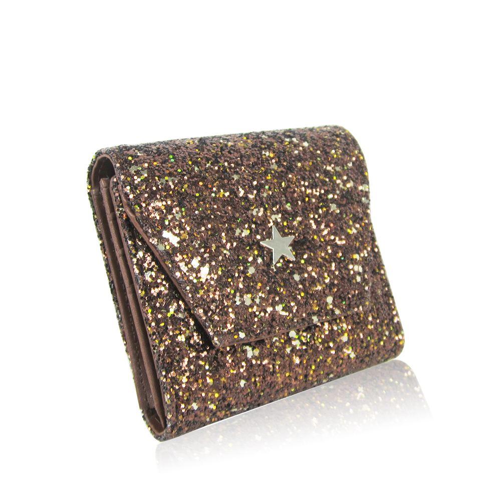 New-Women-039-s-Glitter-Purse-Girls-Designer-Style-Wallet-Card-Holder-Coin-Purse thumbnail 3