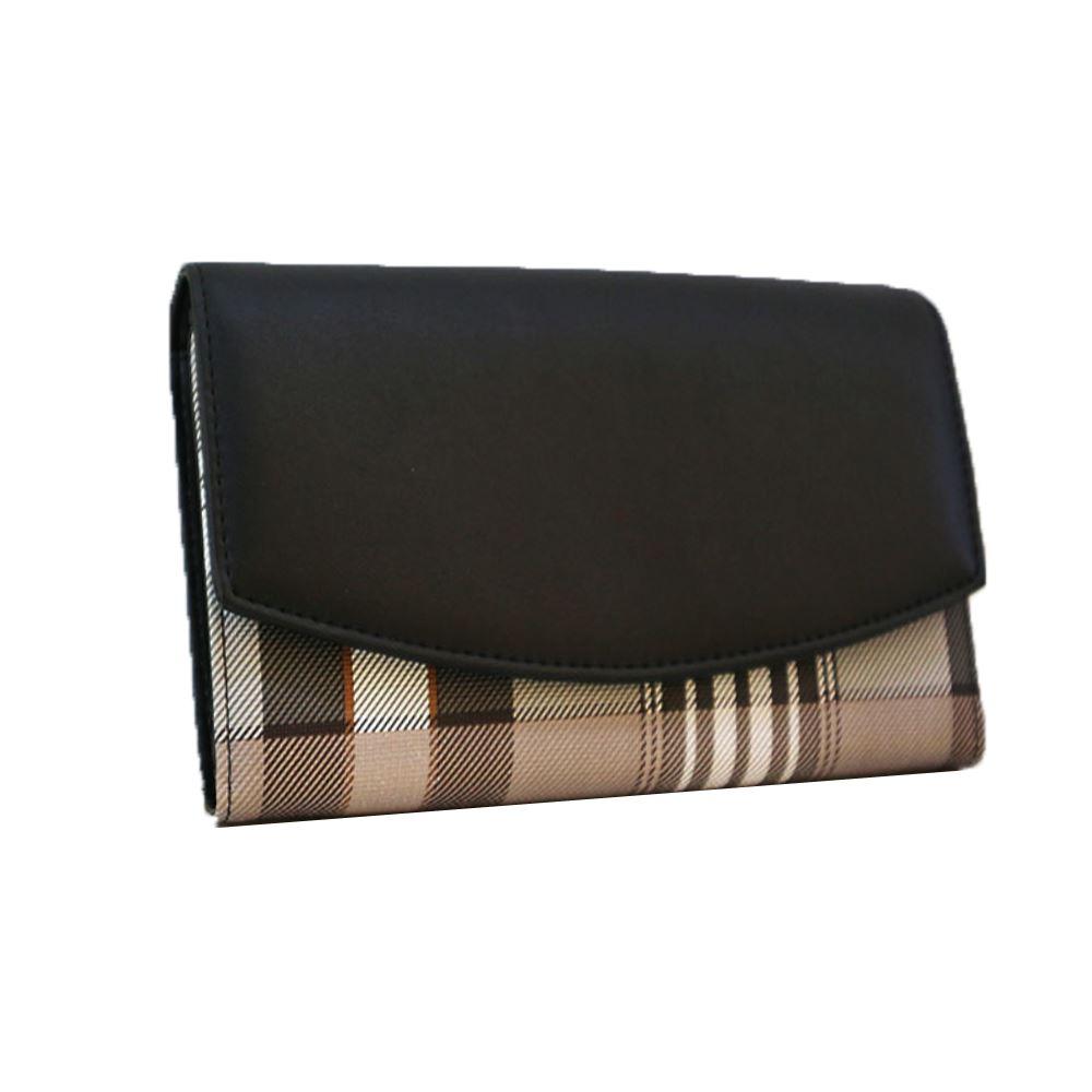 New-Camila-PU-Purse-Tartan-Designer-Style-Pattern-Print-Classic-Lady-Wallet thumbnail 4
