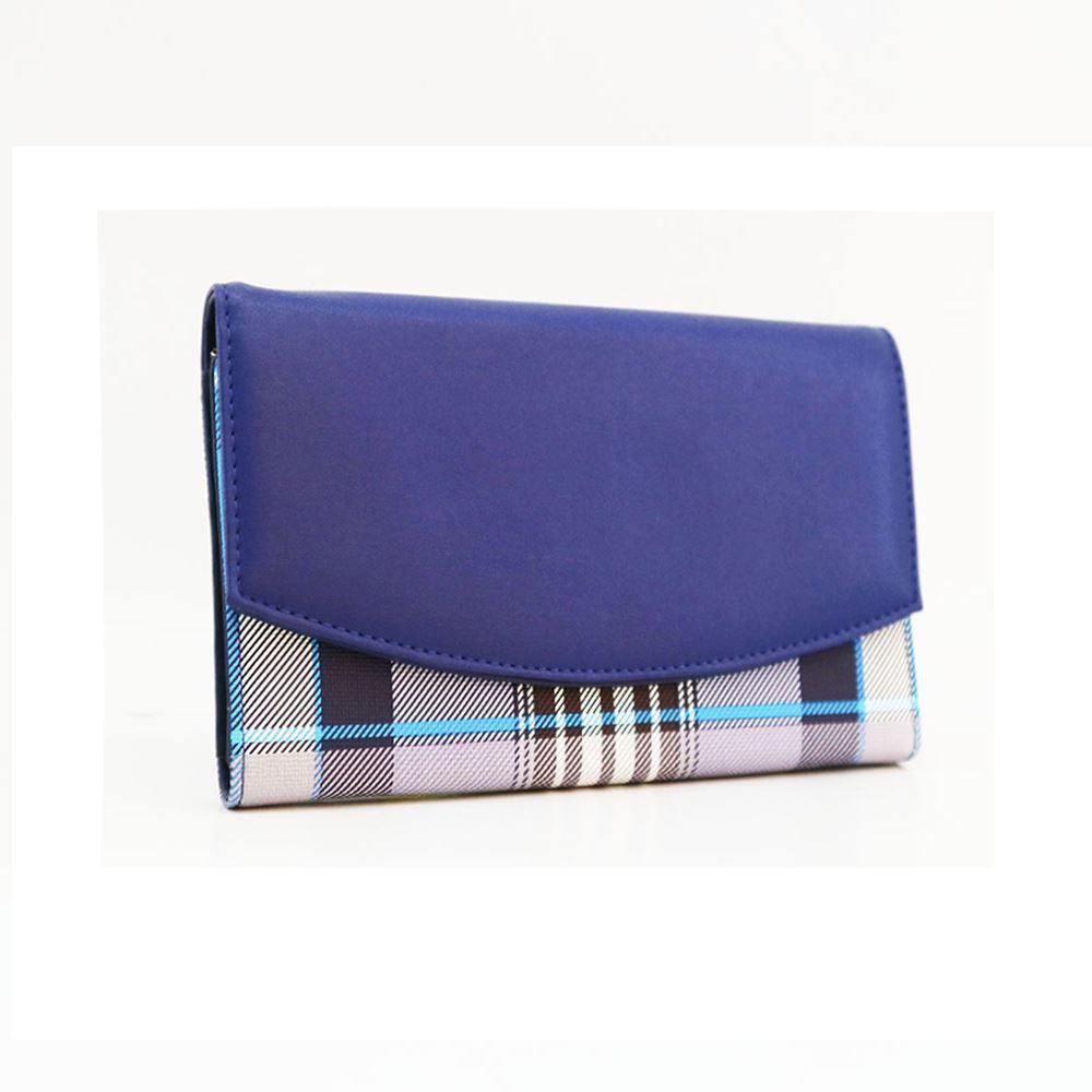 New-Camila-PU-Purse-Tartan-Designer-Style-Pattern-Print-Classic-Lady-Wallet thumbnail 7