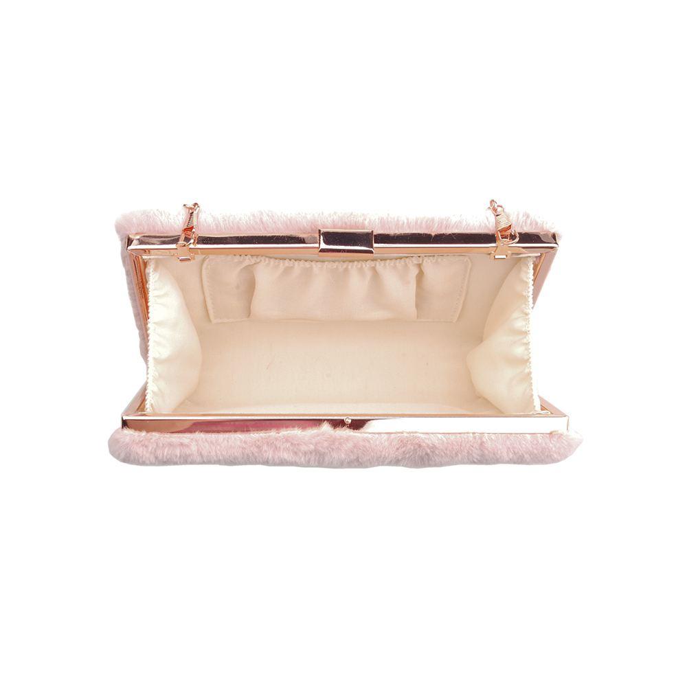 New Womens Faux Fur Designer Style Clutch Bag Ladies Fluffy Velvet Evening Bag