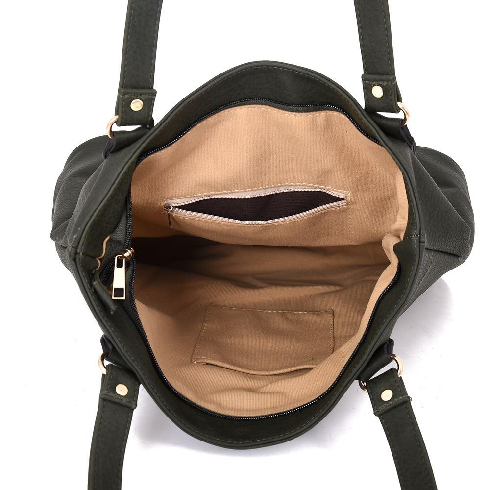 Women-039-s-Large-Designer-Style-PU-Leather-Shopper-Ladies-HandBag thumbnail 7