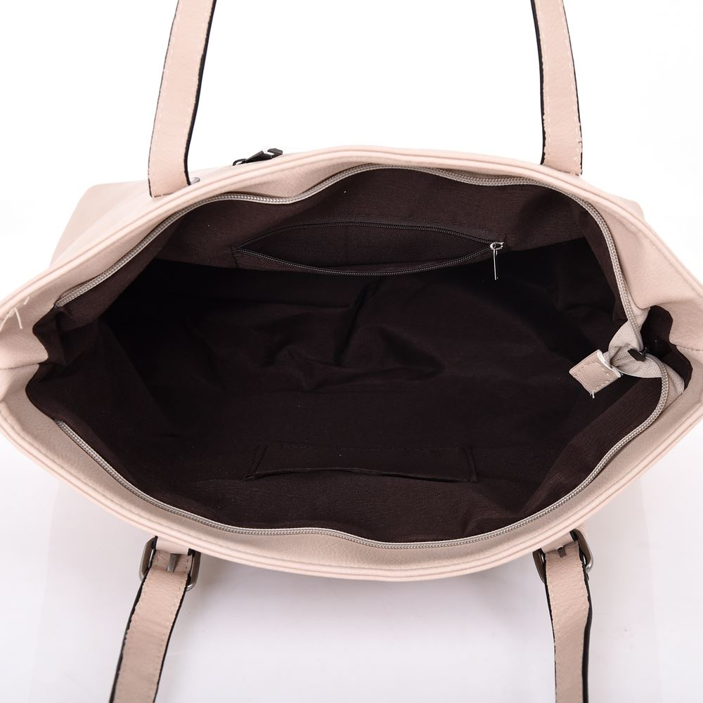 New-Women-039-s-Large-Designer-Style-PU-Leather-Tote-Shopper-Hand-Bag miniatura 4