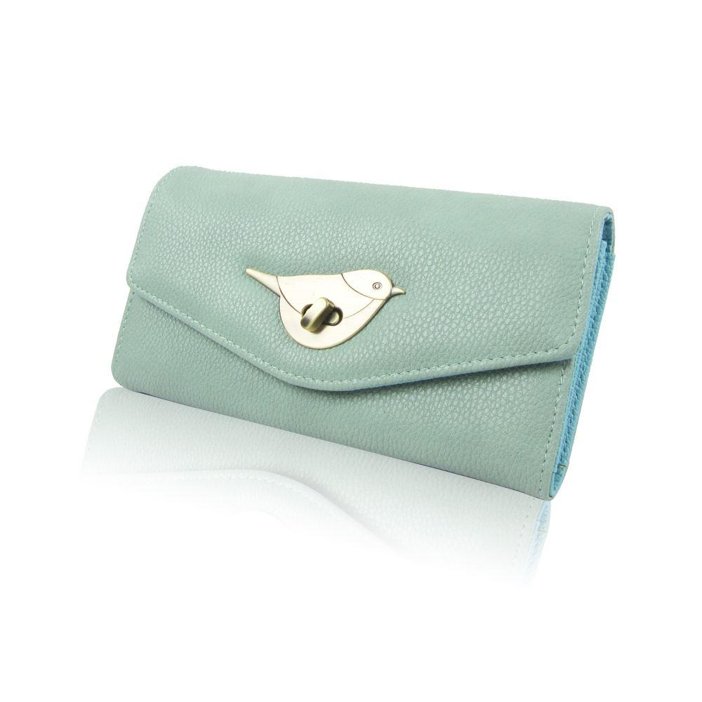 Womens-Designer-Style-Purse-Clasp-Close-Wallet-Girls-PU-Coin-Holder-Bird-Design thumbnail 15