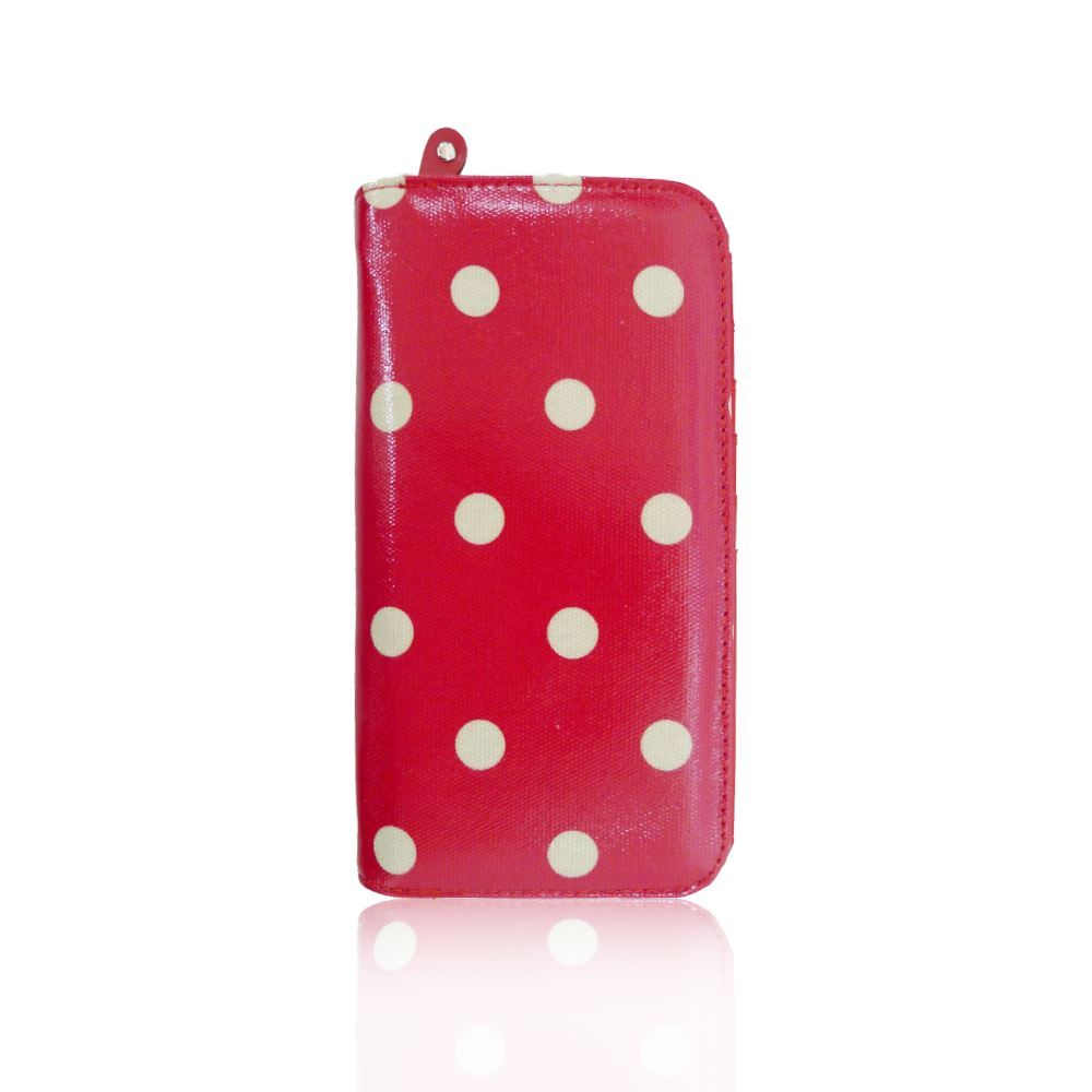New-Womens-Long-Purse-Girls-Polka-Dot-Print-Wallet-Ladies-Oilcloth-Coin-Purse thumbnail 10