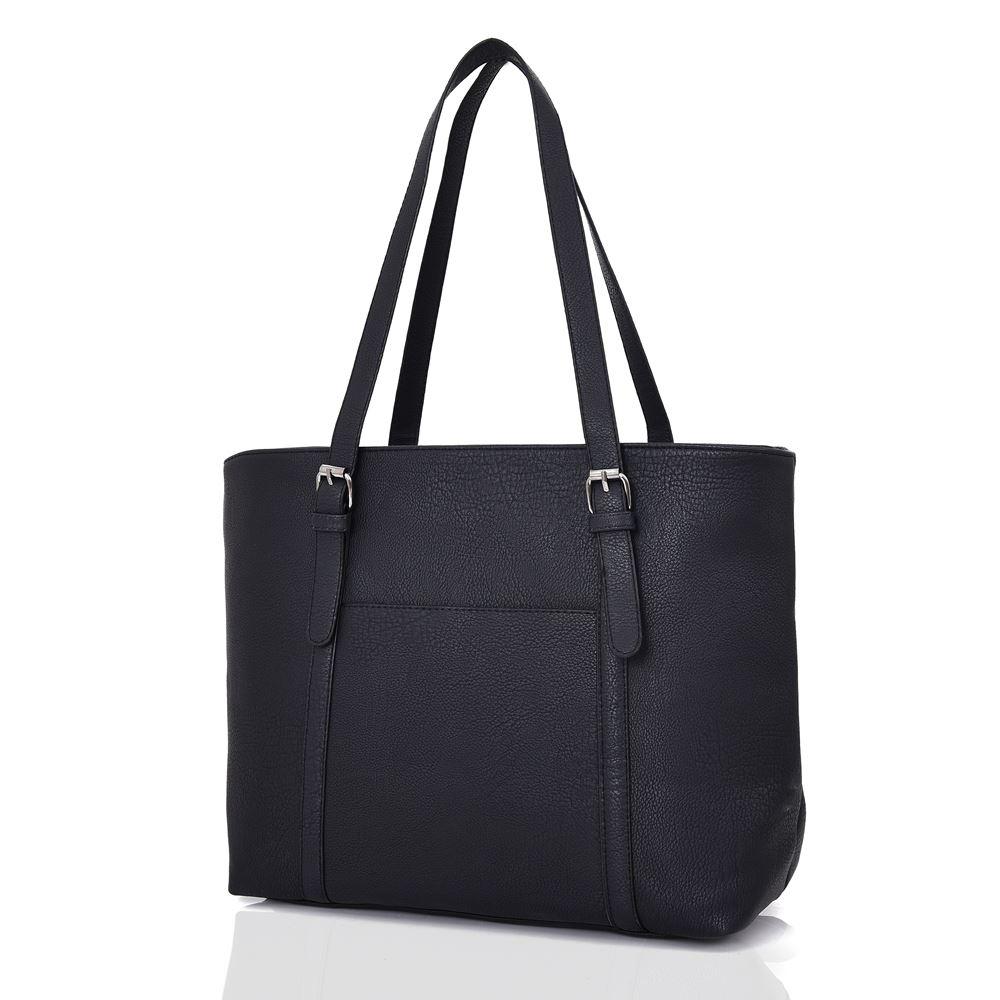 New-Women-039-s-Large-Designer-Style-PU-Leather-Tote-Shopper-Hand-Bag miniatura 6