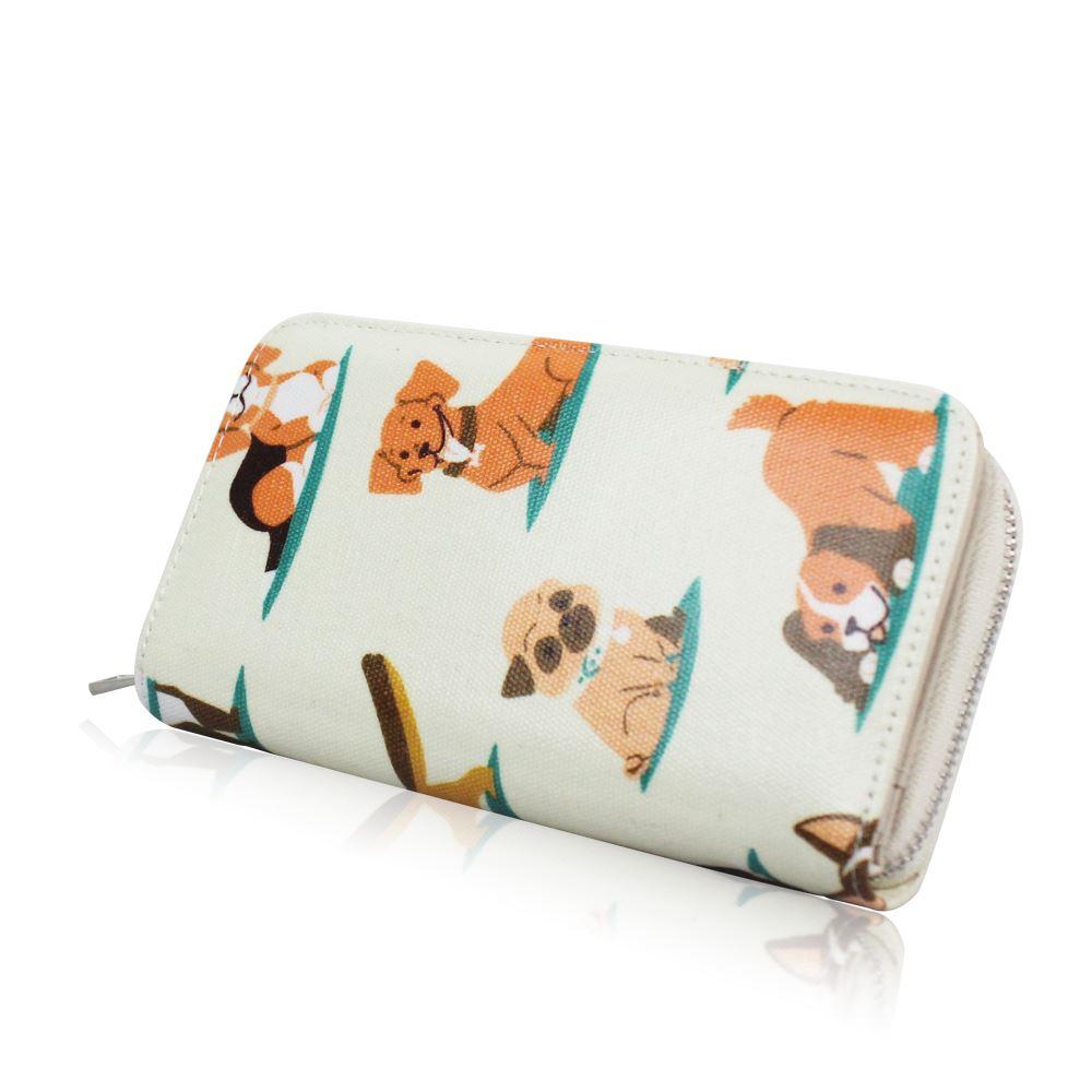 New-Womens-Long-Purse-Girls-Dog-Print-Wallet-Ladies-Oilcloth-Coin-Purse thumbnail 3