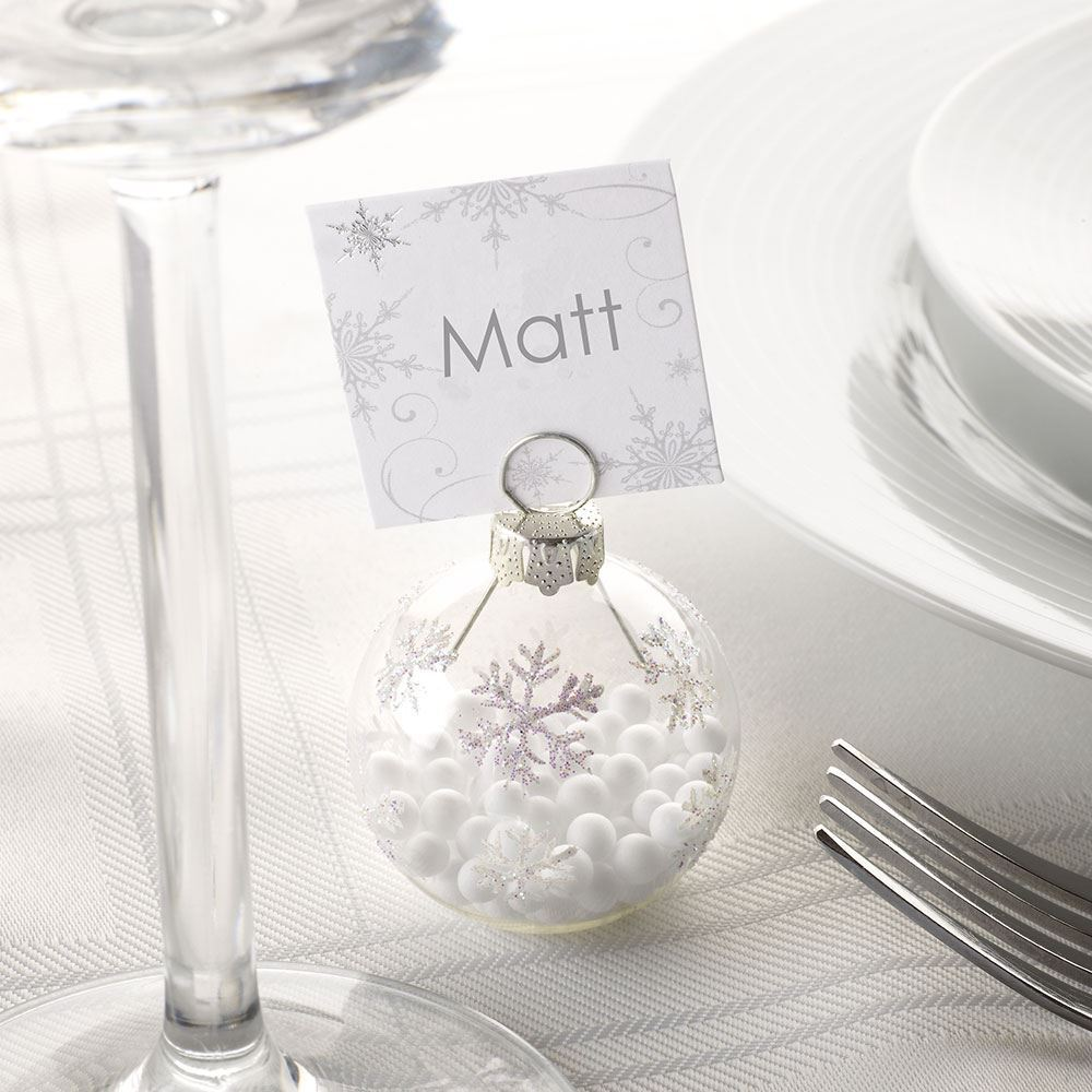 Wedding Table Place Card Ideas: 6 BAUBLE PLACE CARD HOLDERS OR 10 PLACE CARDS, CHRISTMAS