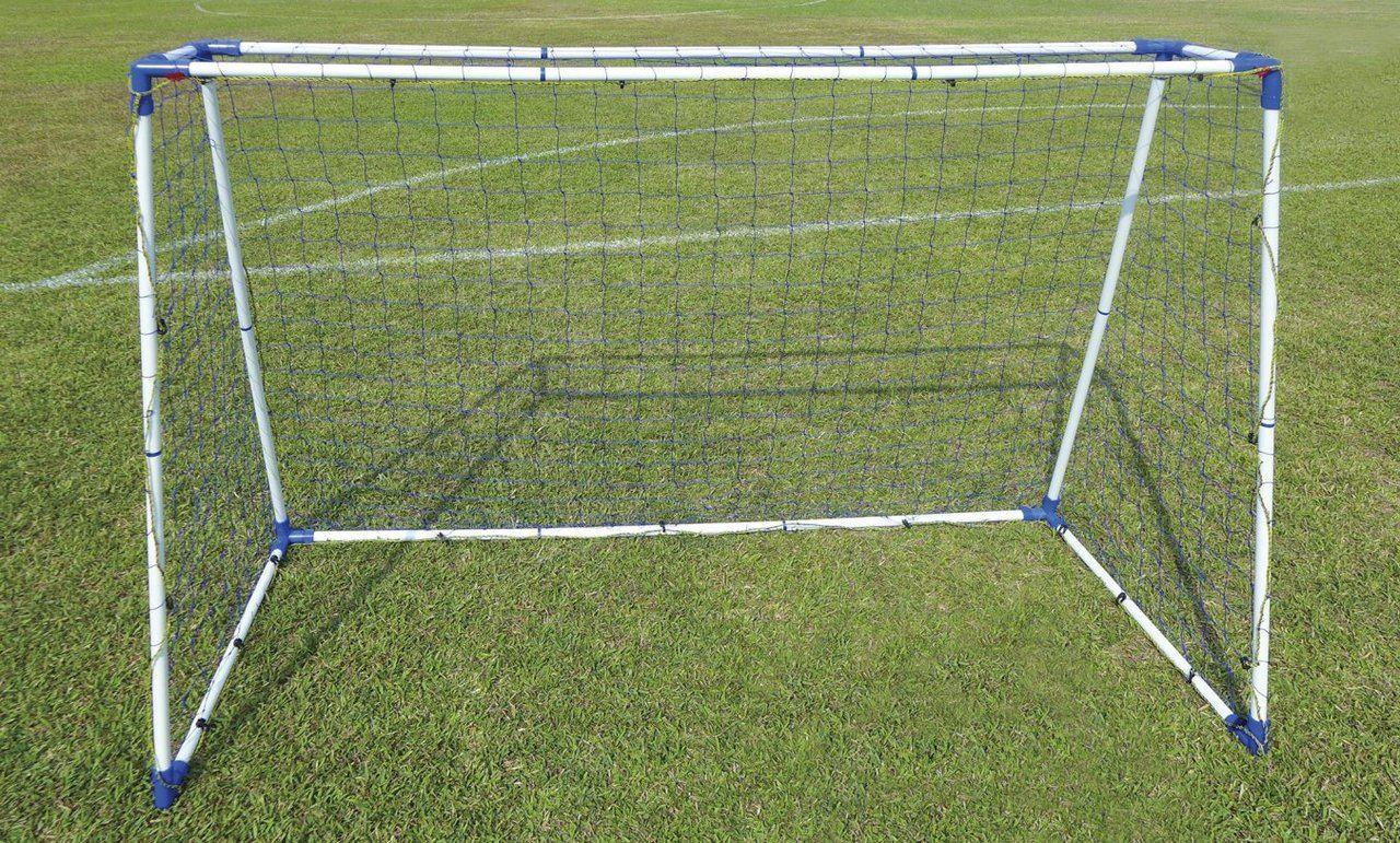 8 Pies De Acero Profesional A-Frame Conjunto de correos de meta de fútbol objetivos de Fútbol Portátil