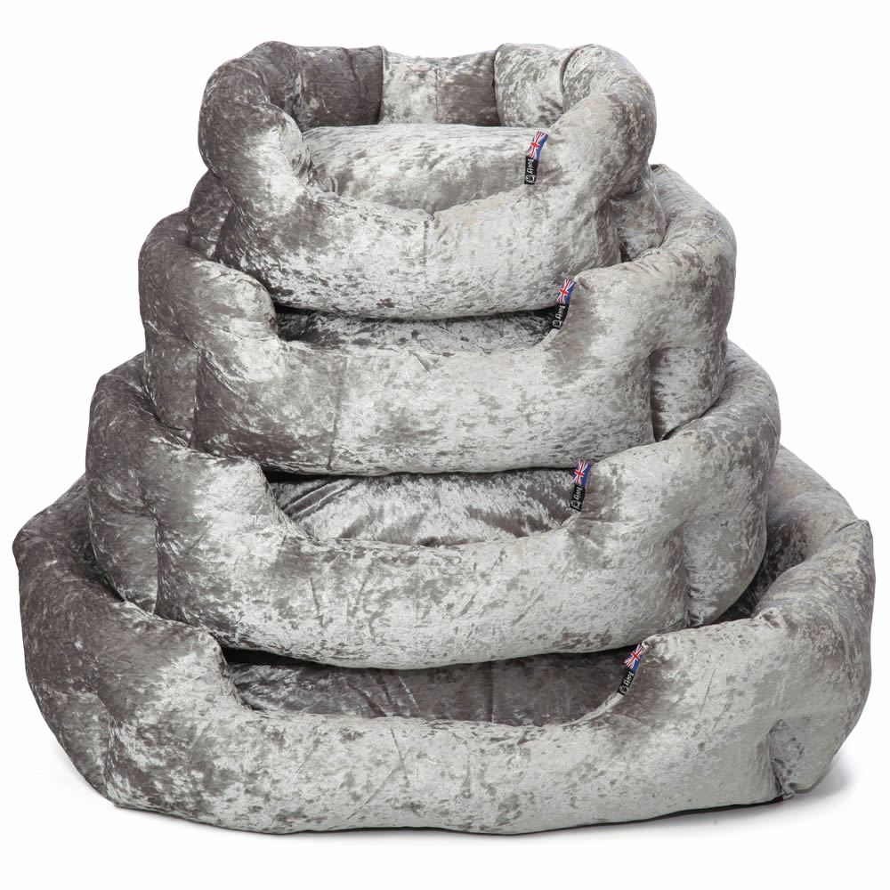 Crushed Velvet FLOOR Cushion Covers ONLY Or with Inner REVERSIBLE soft DOG BED
