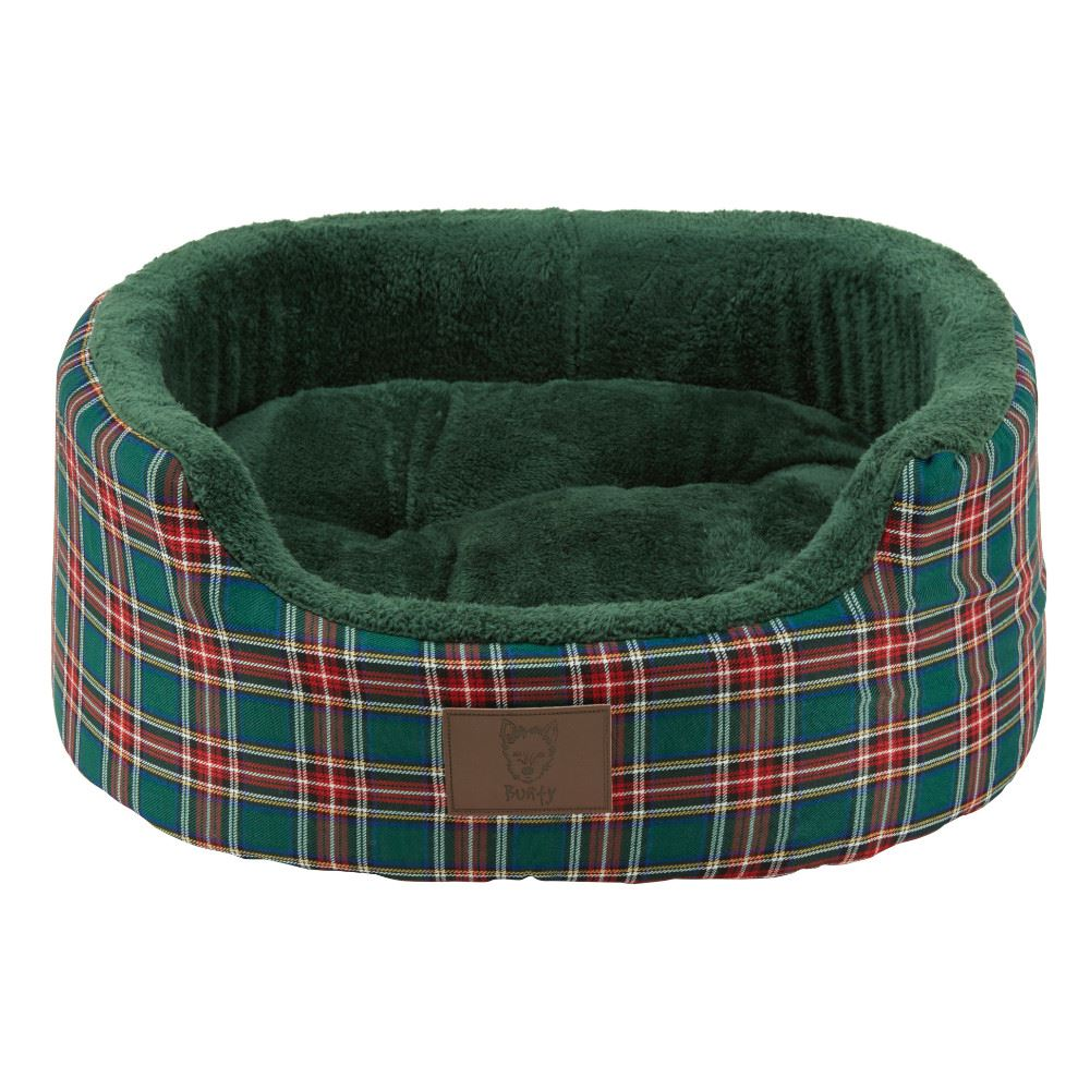 Bunty-Heritage-Tartan-Soft-Fur-Fleece-Dog-Bed-Washable-Pet-Basket-Mat-Cushion thumbnail 3