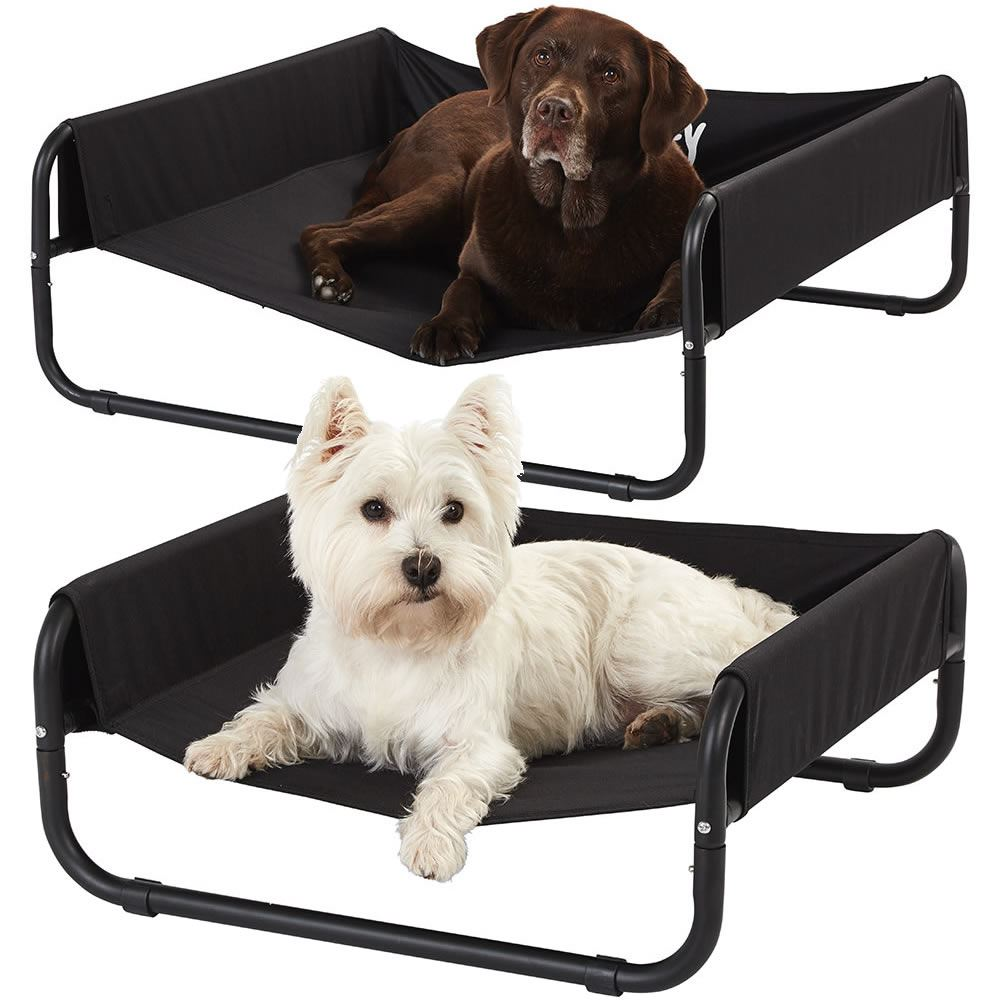 UK Large Portable Waterproof Dog Pet Elevated Bed Outdoor Raised Camping Basket