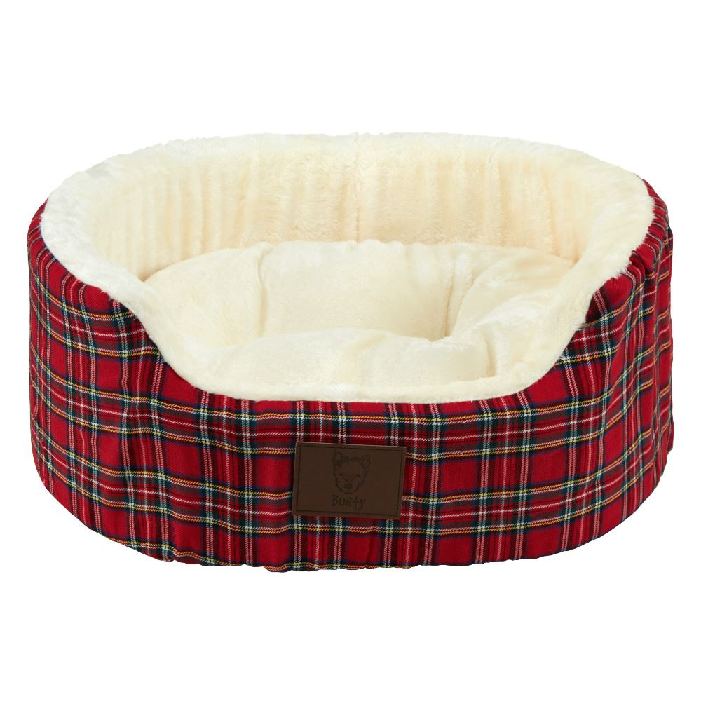 Bunty-Heritage-Tartan-Soft-Fur-Fleece-Dog-Bed-Washable-Pet-Basket-Mat-Cushion thumbnail 5
