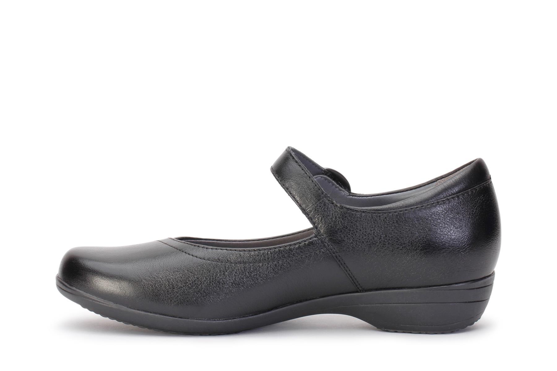 New DANSKO Womens Fawna Black Milled Nappa Leather Mary Jane Shoes 5501020200