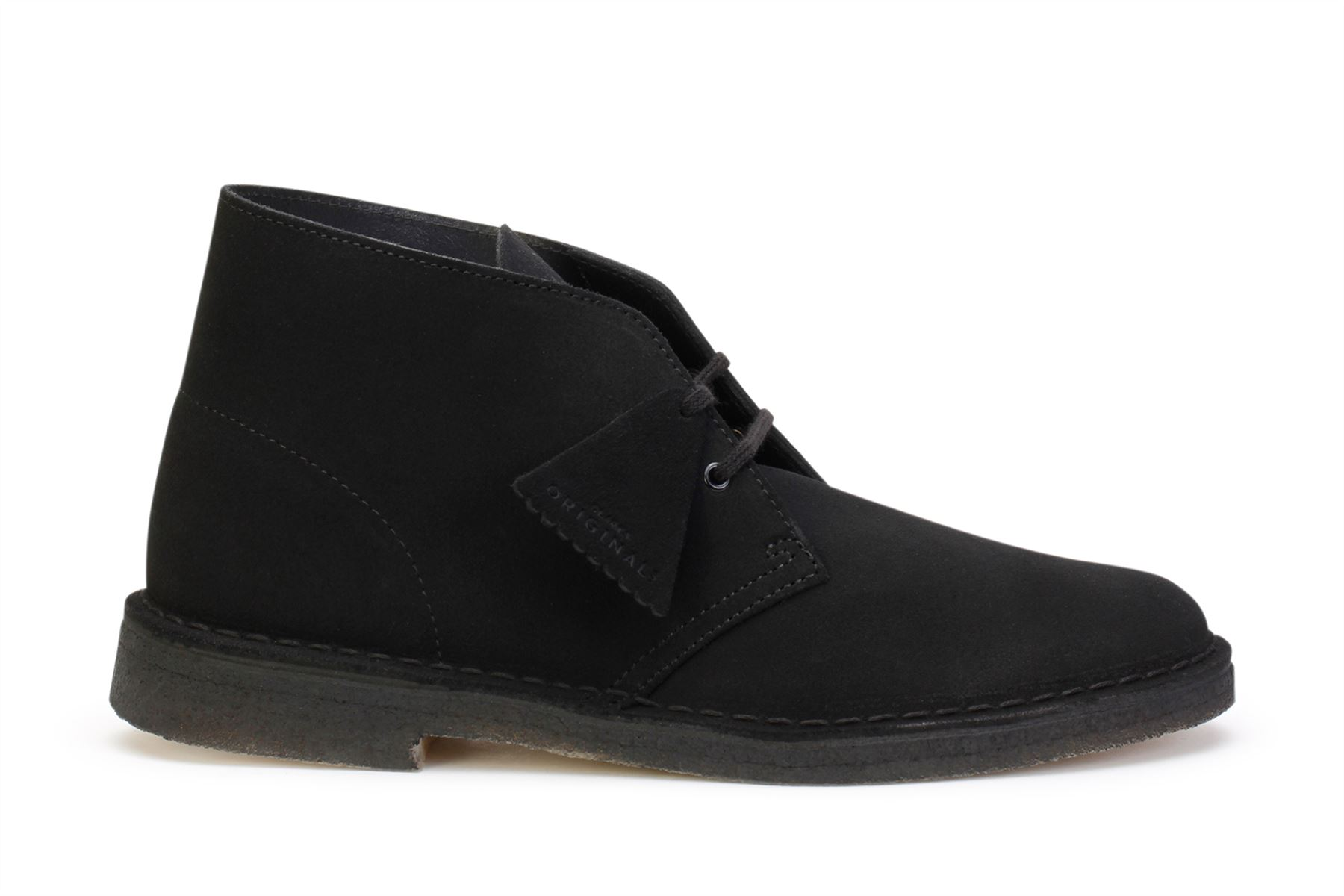 Clarks Originals Men's Desert Boots Black Suede 26138227