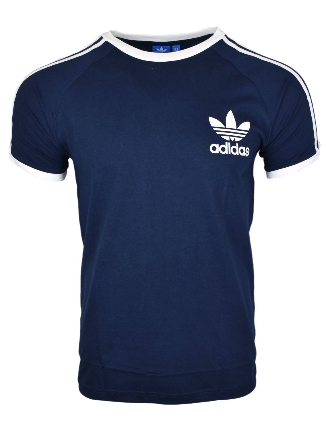 003db3836218 Adidas Originals Sports Essential Tee in Navy. Boasting the classic Adidas  trefoil logo design, this timeless tee is the perfect causal tee for the  laid ...