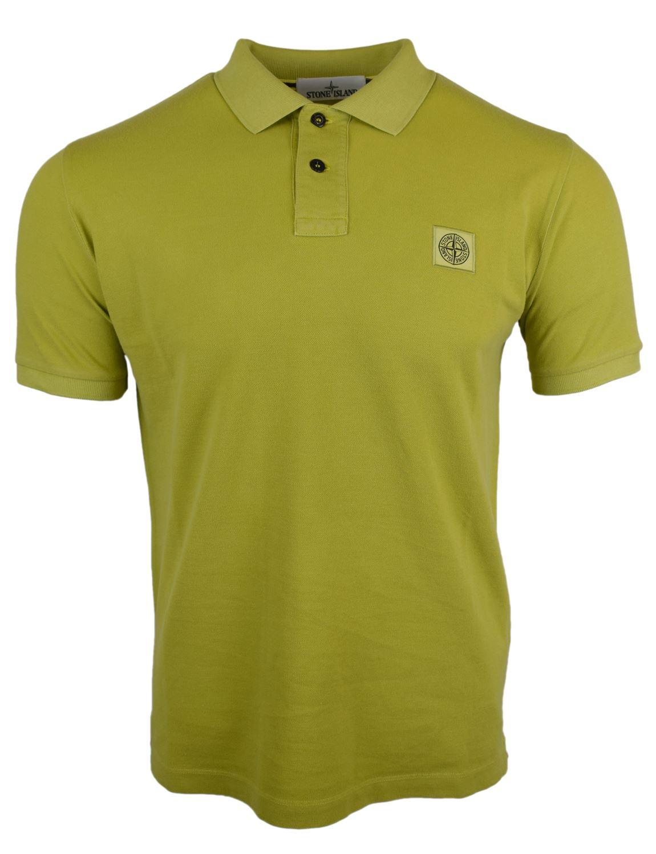 stone island green polo shirt
