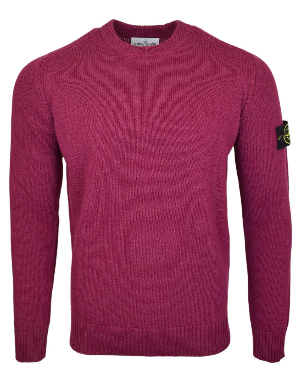 Details zu Stone Island Rundhals Kirsche Strick Sweatshirt Neu mit Etikett