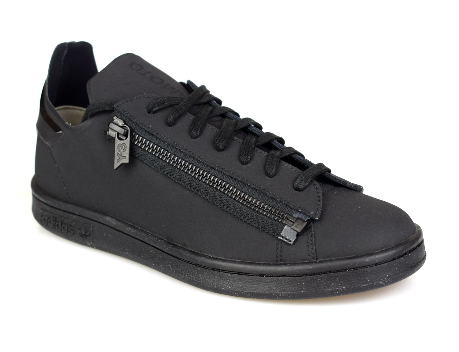brand new c0096 e5e03 Details about Adidas Y-3 Stan Zip Black Mens Trainers CG3207
