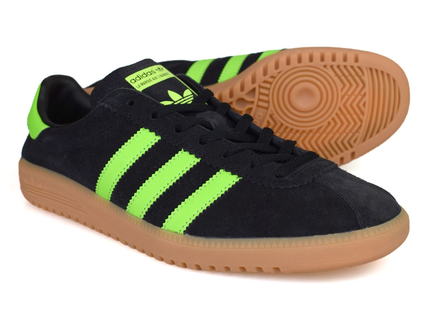 Details about Adidas Originals Bermuda Black Green Trainers BB5271 Free UK P&P!