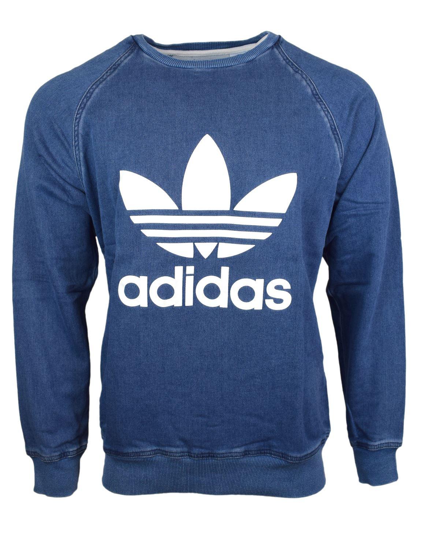 Completo Crew Sweatshirt Blu adidas   adidas Switzerland
