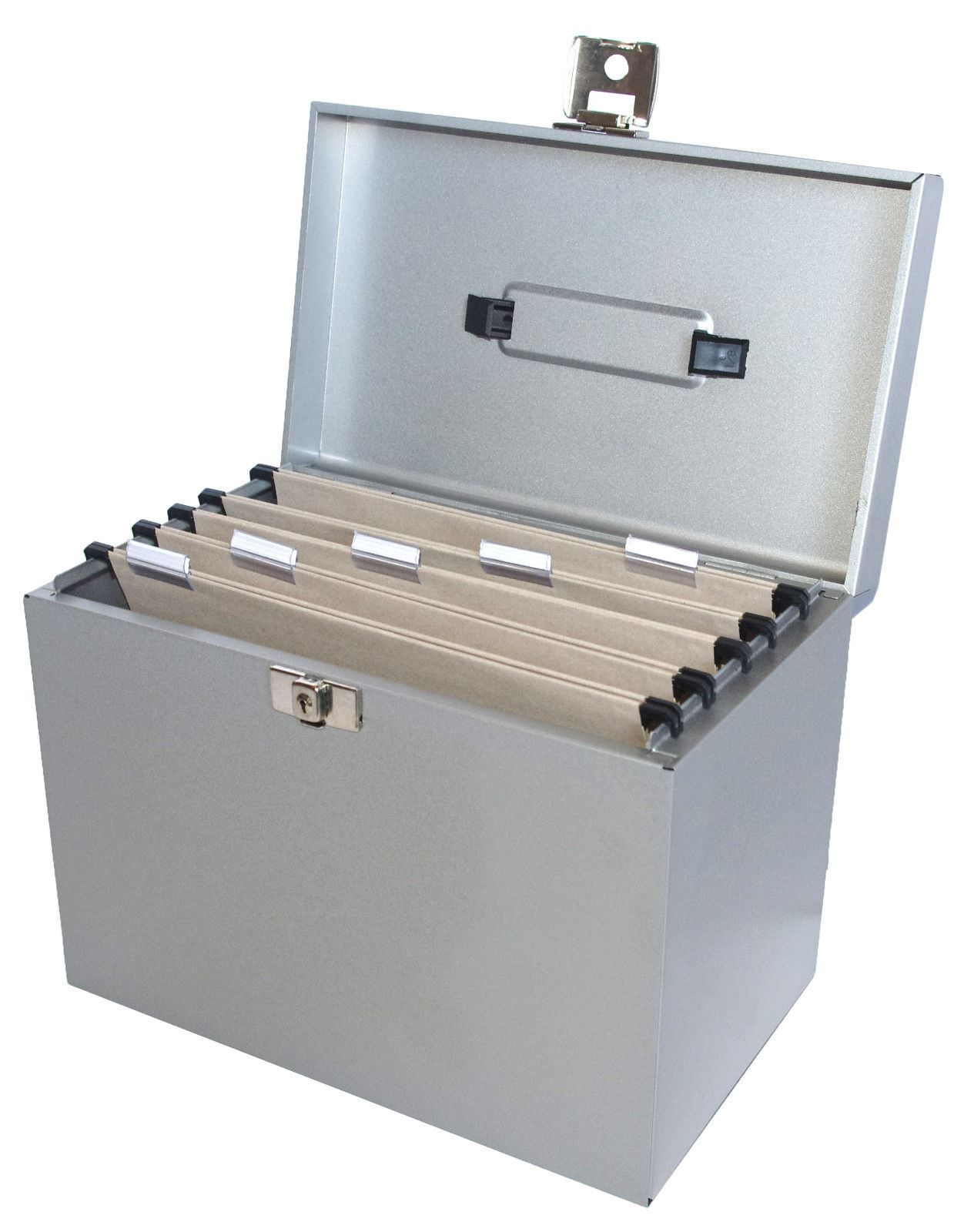 Metal-File-Storage-Box-A4-Lockable-5-Free-  sc 1 st  eBay & Metal File Storage Box A4 Lockable 5 Free Files OR Optional ...