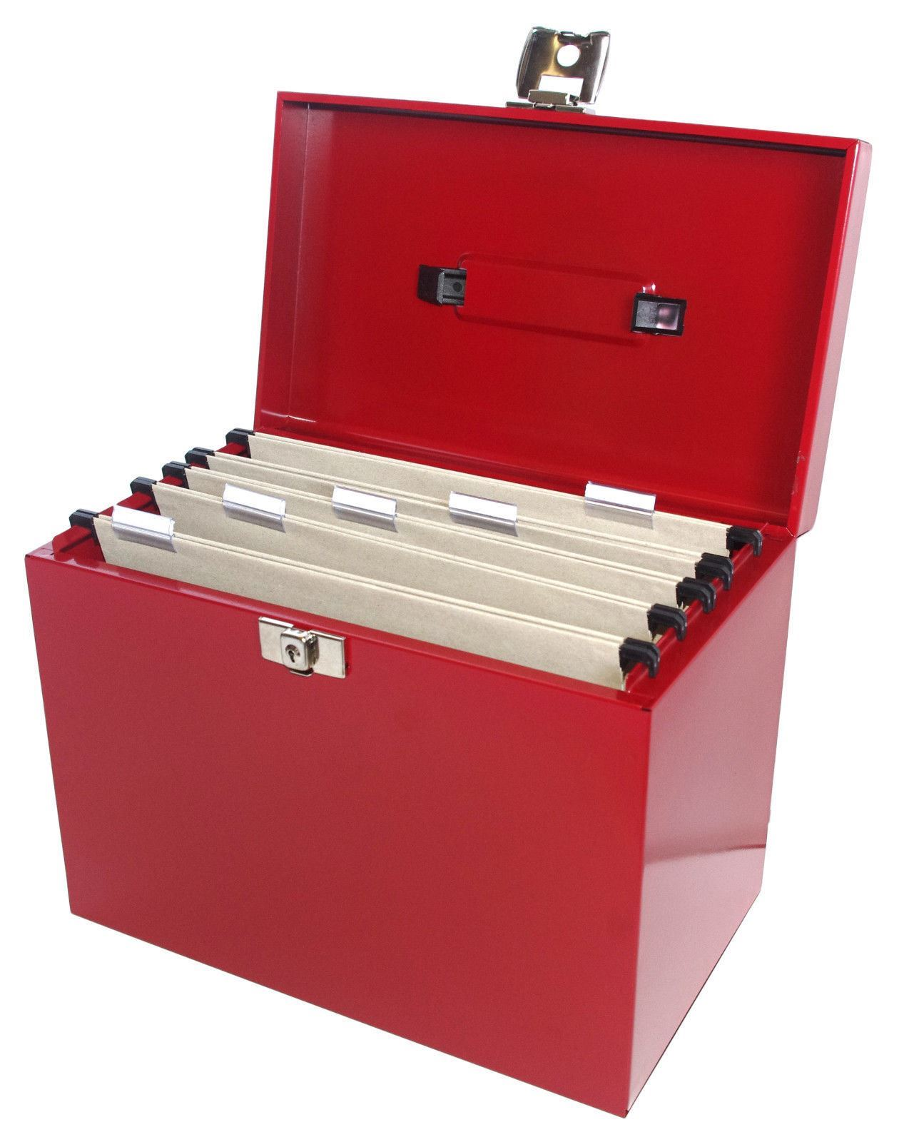 Box Office Buz: A4 Metal File Filing Box Home Office Storage Lockable + 5
