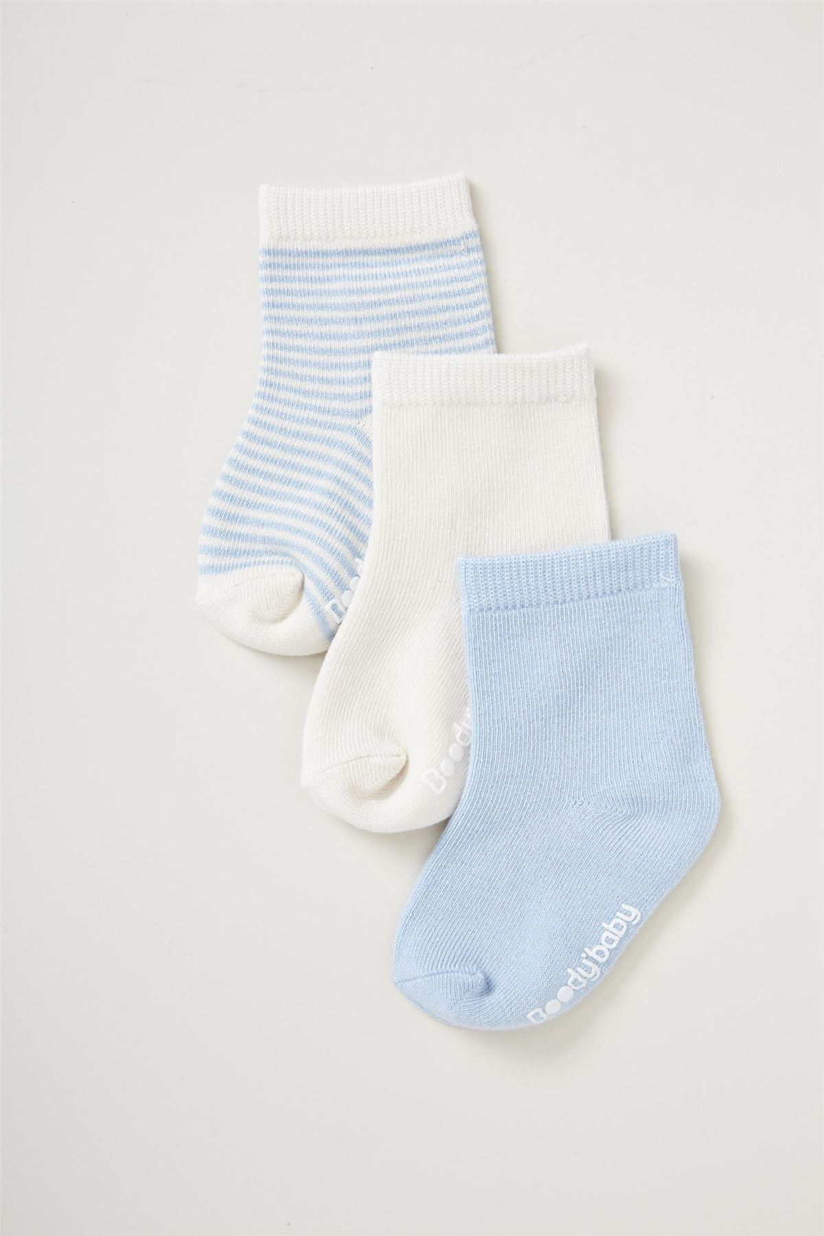 Boody Organic Bamboo Baby Boy Girl Socks 3 Pack Blue Pink 0 3 3 6