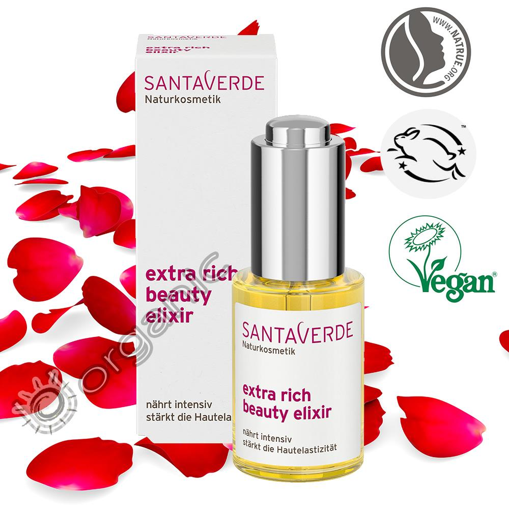 Details about Santaverde Organic Extra Rich Beauty Elixir 30ml for Dry Skin