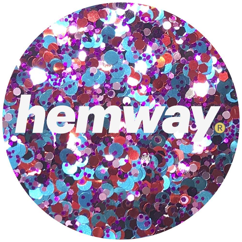Hemway-Festival-Brillo-Copo-de-Disco-Grueso-Decorativo-Grande-Mezcla-Traje-De-La-Danza miniatura 60