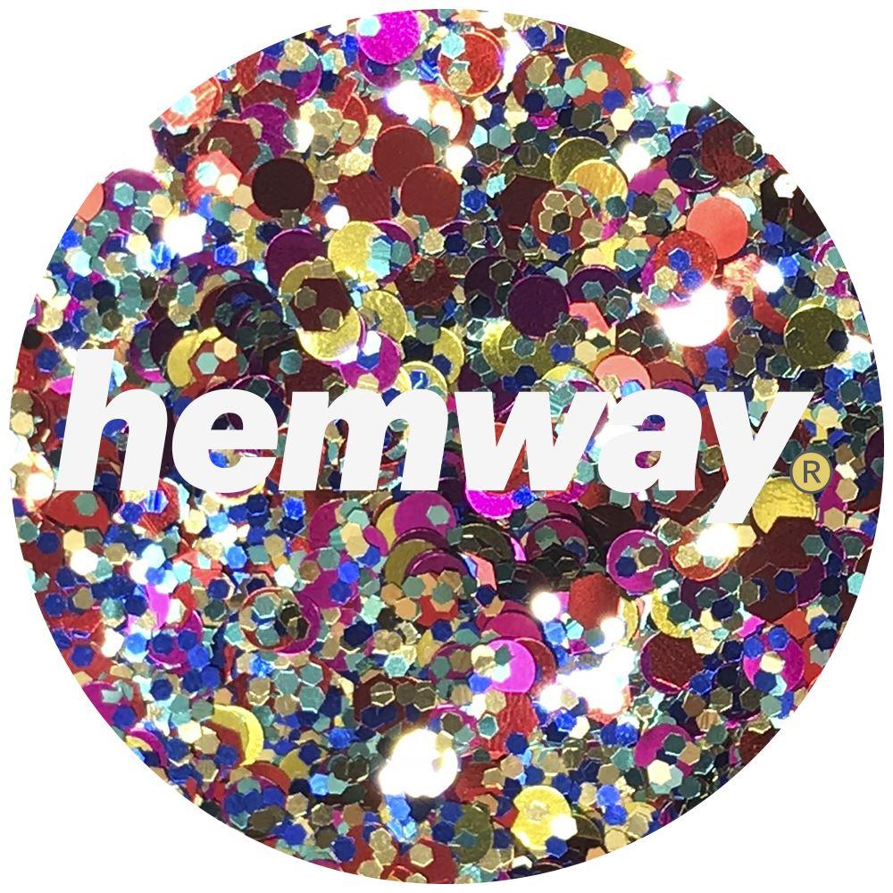 Hemway-Festival-Brillo-Copo-de-Disco-Grueso-Decorativo-Grande-Mezcla-Traje-De-La-Danza miniatura 80