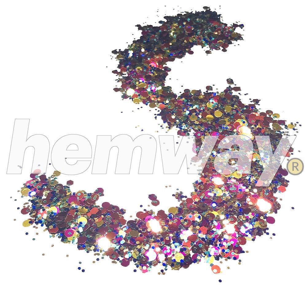 Hemway-Festival-Brillo-Copo-de-Disco-Grueso-Decorativo-Grande-Mezcla-Traje-De-La-Danza miniatura 79