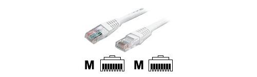 StarTech 3 ft White Molded Cat5e UTP Patch Cable