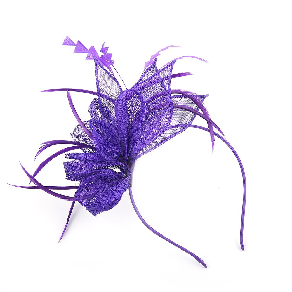 Flower Headband Sinamay Aliceband Fascinator Wedding Ladies Day Race
