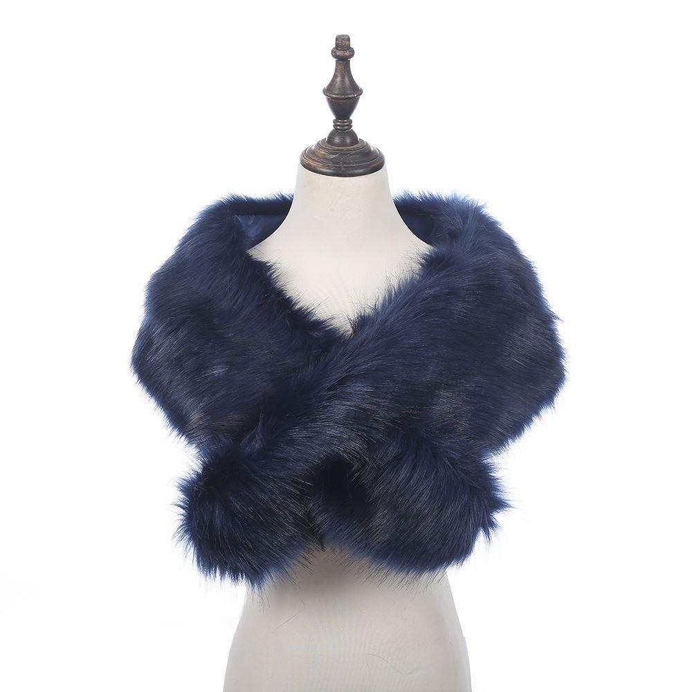 Mujeres-Damas-Moda-Collar-de-piel-sintetica-de-lujo-Bufanda-Chal-Estola-Abrigo-De-Invierno-Mullido