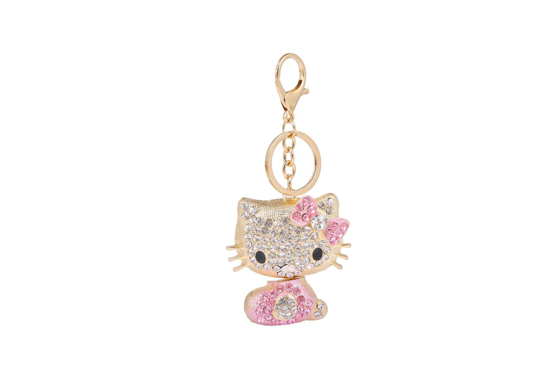 Key-Ring-Bag-Charm-Anime-Character-Rhinestone-Crystal-CZ-Keyring-Keychain-Gift thumbnail 13
