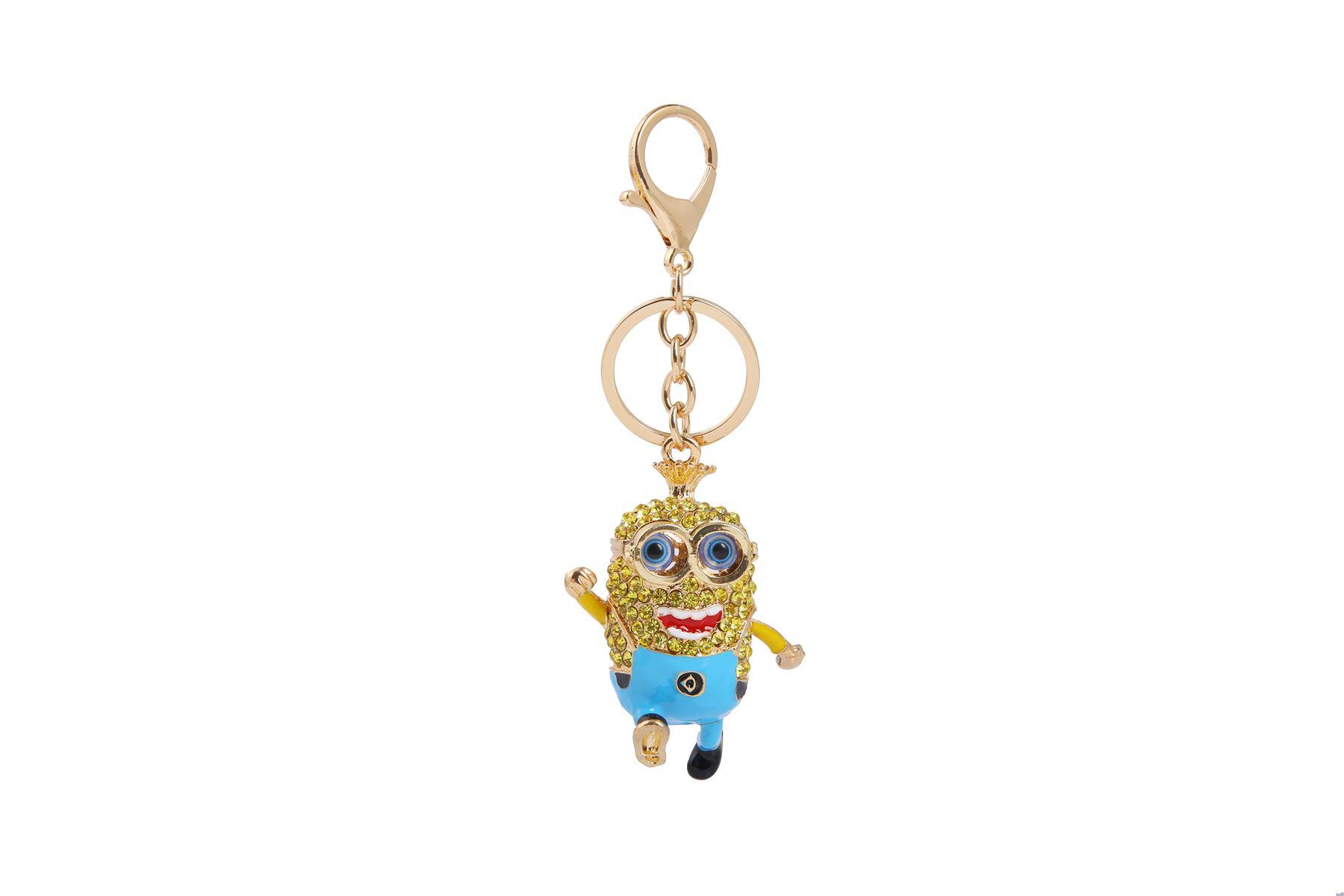 Key-Ring-Bag-Charm-Anime-Character-Rhinestone-Crystal-CZ-Keyring-Keychain-Gift thumbnail 25