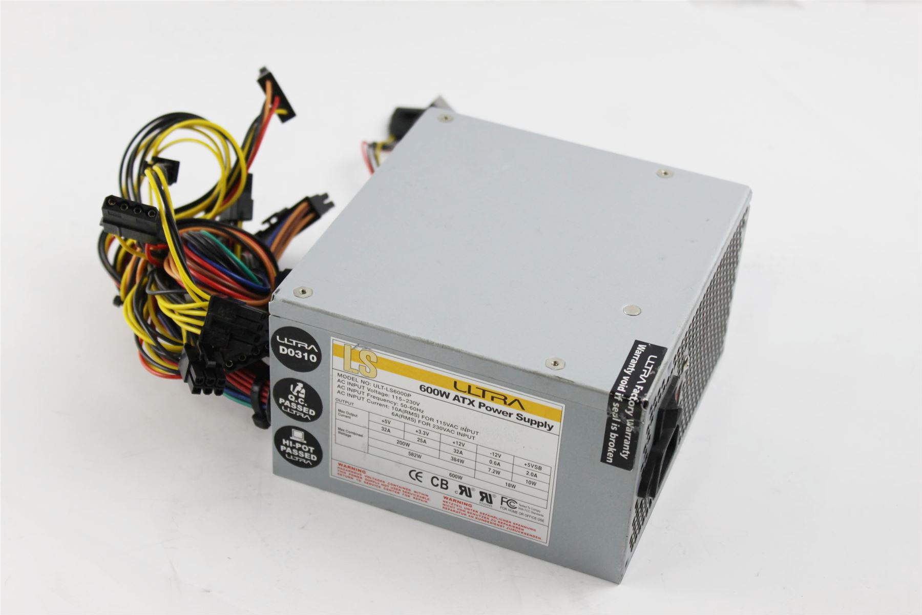 ls ultra atx 600w 24 pin power supply ult ls6000p ebay rh ebay com computer power supply wires
