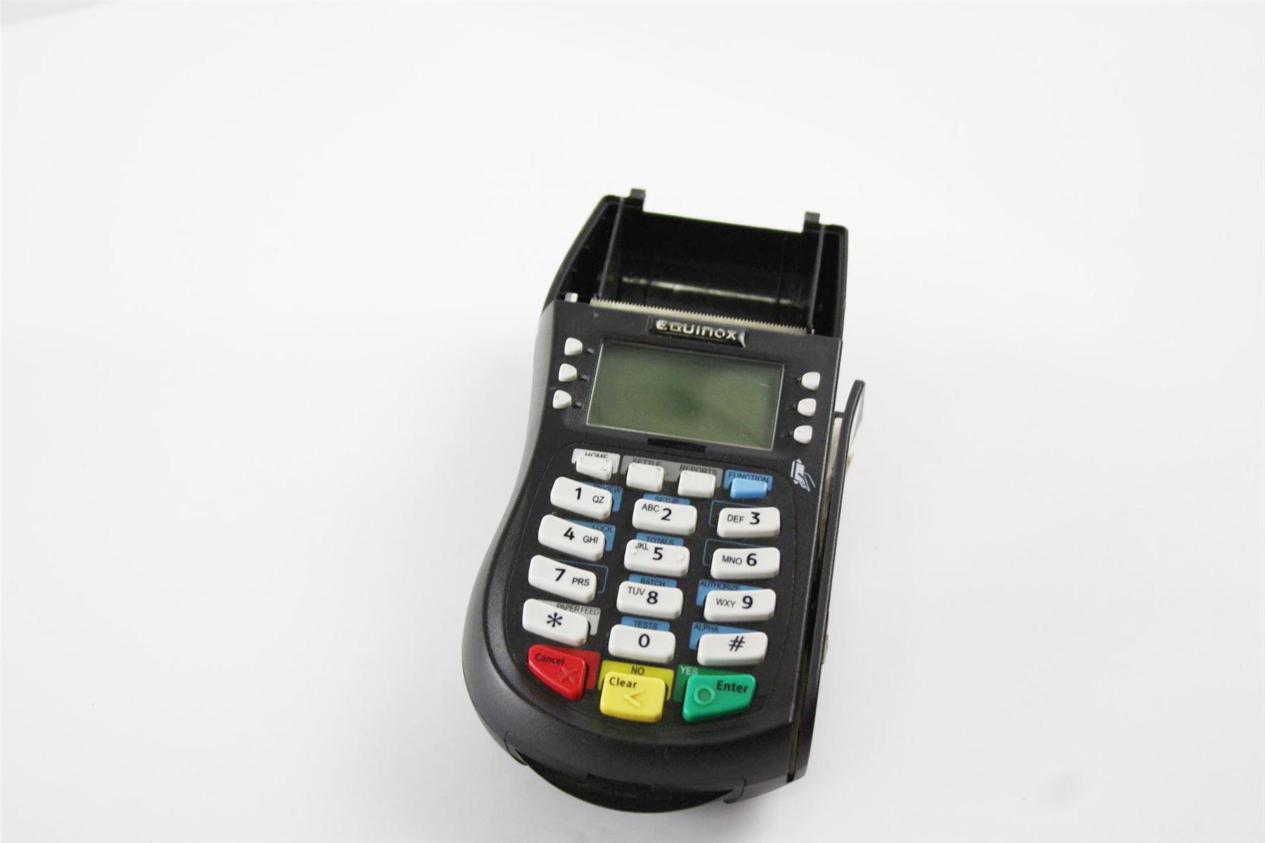 Equinox Hypercom T4220 Credit Card Reader Terminal W/O AC Adapter  010332-359R